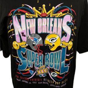Vtg Starter Super Bowl XXXI New Orleans T-Shirt L